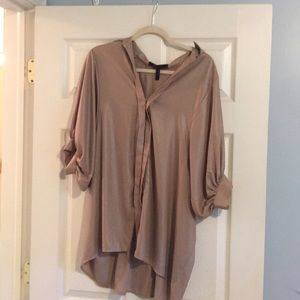 Bcbg beautiful blouse shiny gold